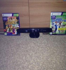 Kinect на Xbox 360,две игры на этот кинект