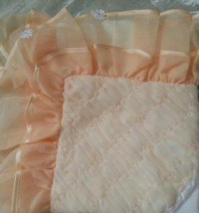 Одеяло-конверт зима ×)+ 2 комплекта бортики,балд