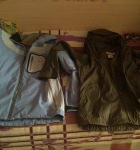 Куртка с ветровкой р48