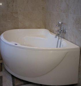 Угловая акриловая ванна! Новая!