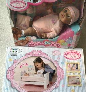 Кукла и кровать Baby Annabell (новые, в упаковке)