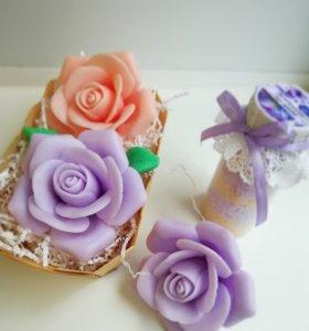 Мыло ручной работы - роза