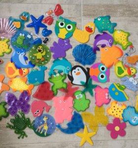 Мини-коврики для ванны Липучки
