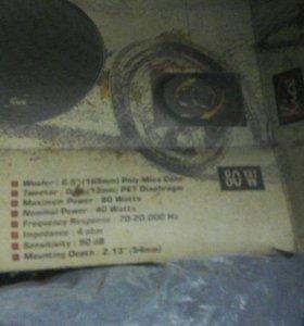 Kicx встраиваемые DS652 80W двухполосные 165мм
