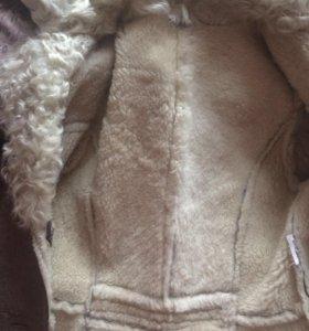 Дубленка натуральная кожа и натуральный мех ягнен