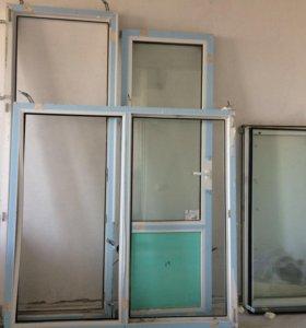 Пластиковое окно с балконной дверью