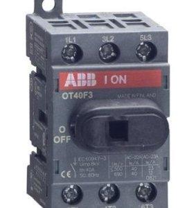Рубильник OT40F3 3п с рукояткой DIN/винт