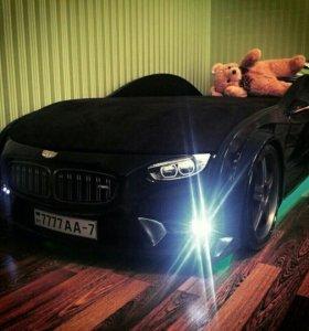 Кровать БМВ чёрная