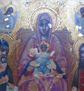 икона исусячия христячиный с женщинам
