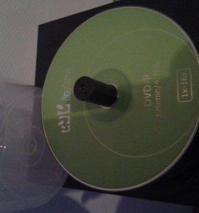 Чистые диски DVD-R. DVD- RW