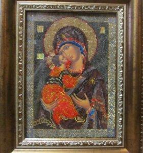Владимирская икона Божией Матери. Вышиваю на заказ