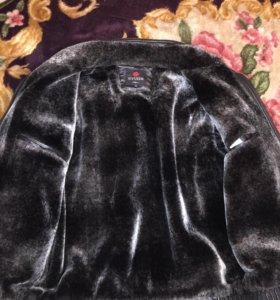 Куртка зимняя коженная