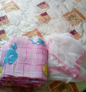 Набор в кровать для новорожденной девочки