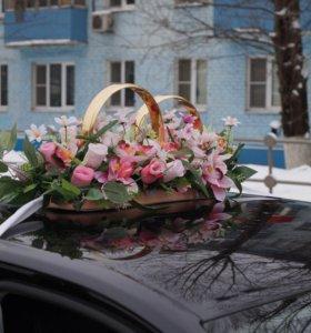 Свадебные украшения на машину!
