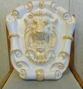 Декор Лев..на стену,на заборные столбы