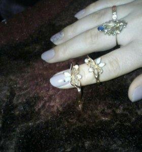 Золотые сережки 585пробы