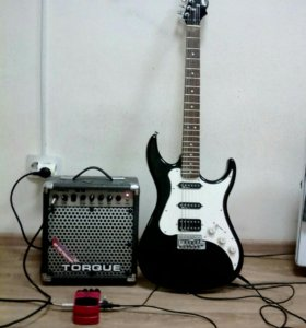 Электро гитара и усилитель для нее