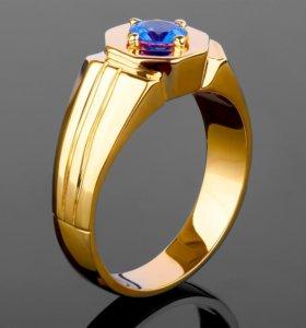 Золотое кольцо с сапфиром 0,65ct.