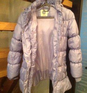 Пальто демисезонное на девочку 7-10 лет