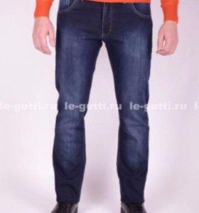 Новые мужские утеплённые джинсы