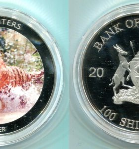 100 шиллингов Уганда Тигр