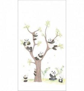 Фотообои/панно панды 150шир×280выс