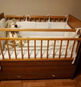 Детская кроватка-маятник(трансформер)