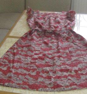 Винтажное платье-сарафан