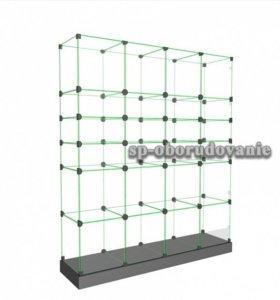 """стеклянная витрина """"кубик"""" б/у"""