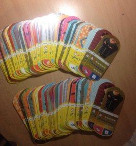 Карточки гадкий я 3(два комплекта)