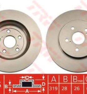 Тормозные диски перед TRW Lexus RX300,350,330,400h