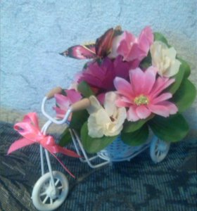 Велосипед цветочный. В наличии.