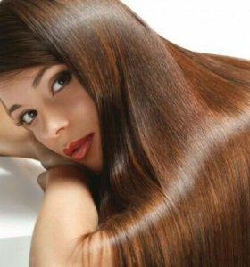 Наращивание волос, в т.ч. Омбре.