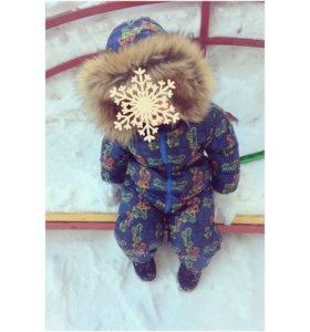 Зимний комбинезон Baby go + Угги