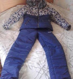 женская зимняя куртка с теплыми штанами