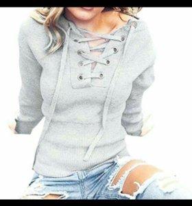 2цвета! Стильный пуловер-оверсайз.Новый.р 46-50.