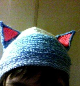 Вязаная шапка котика(XS)