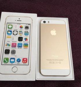 iPhone 5s gold 16gb в идеале, оригинал