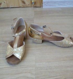 Туфли для спортивно-бальных танцев девочке