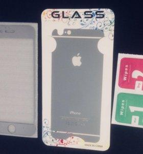 Комплект защитных стекол для iPhone 6
