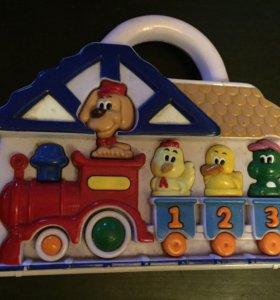 Паровоз музыкальная игрушка