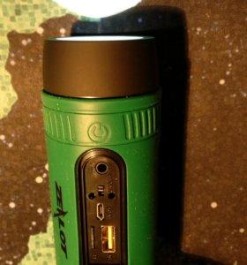 Портативная фонарик power bank радио Bluetooth