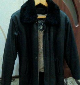 Новая зимняя куртка из натуральной кожи и меха!