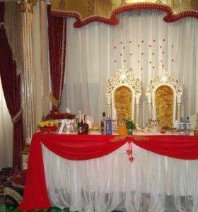 Королевская свадьба, свадебное оформление