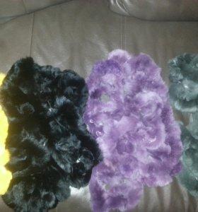 новые шарфы из меха кролика