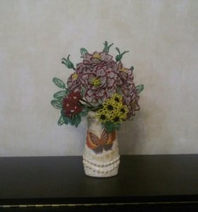 Цветы и деревья из бисера ручная работа
