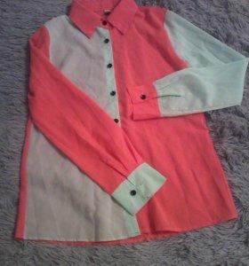 Блузка двухцветная