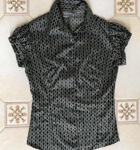 Блузка шелковая s