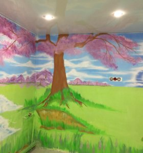 роспись стен,потолков,детских комнат...