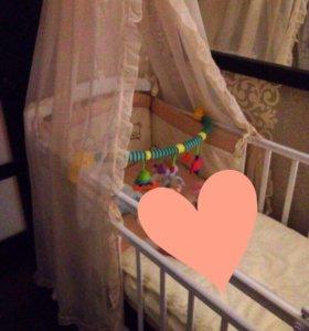 Набор для детской кроватки(Бортики, балдахин)
